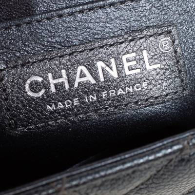 Chanel Metallic Dark Blue Quilted Leather New Mini Classic Single Flap Bag 333773 - 8