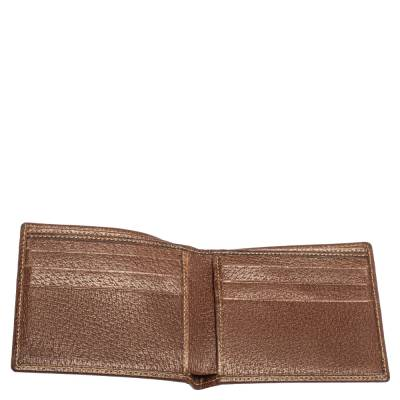Gucci Beige/Brown GG Canvas and Leather Bi-fold Wallet 337487 - 2