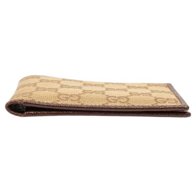 Gucci Beige/Brown GG Canvas and Leather Bi-fold Wallet 337487 - 6