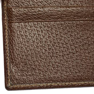 Gucci Beige/Brown GG Canvas and Leather Bi-fold Wallet 337487 - 8