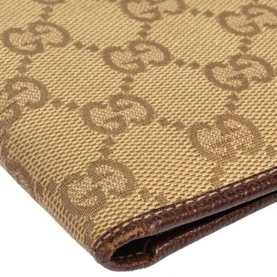 Gucci Beige/Brown GG Canvas and Leather Bi-fold Wallet 337487 - 10
