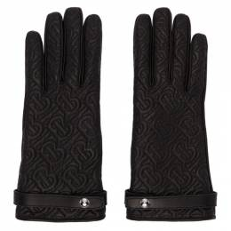 Burberry Black Quilted Monogram Gloves 8024983