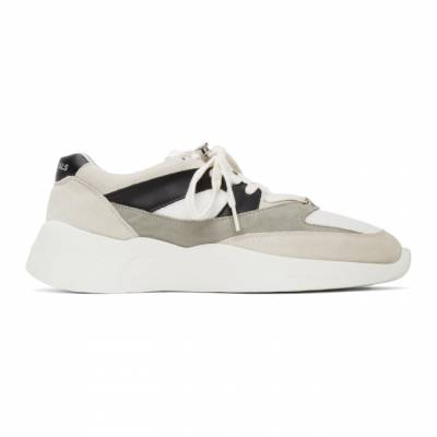 Essentials White and Grey Distance Sneakers ES02W19U-SRLEFAG3WB - 1