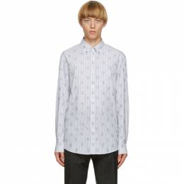 Burberry White and Navy Monogram Cuttler Shirt 8029905