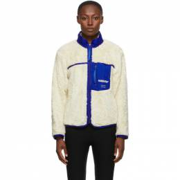 Ambush Off-White Fleece Zip-Up Jacket BMEA001F20FLE0010200
