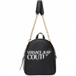 Versace Jeans Couture Black Chain Backpack EE1VZBBG8E71728E899
