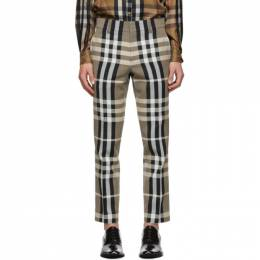 Burberry Beige and Black Check Trousers 4565218