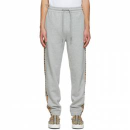 Burberry Grey Check Lounge Pants 8035873