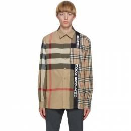 Burberry Beige Patchwork Talby Shirt 8033101