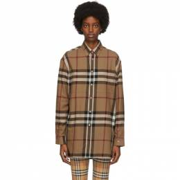 Burberry Brown Check Relaxed Fit Shirt 4565531
