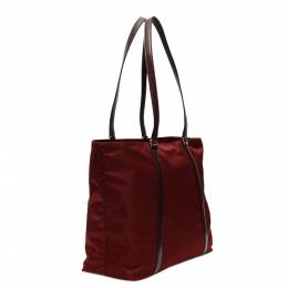 Prada Bordeaux Nylon Tote Bag 337904