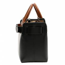 Burberry Black Leather The Belt Small Bag 337917