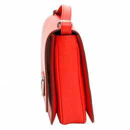 Burberry Red Leather D-Ring Crossbody Bag 337896