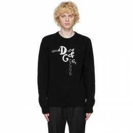 Dolce and Gabbana Black Cashmere and Wool DNA Sweater GXA63Z JAM3D