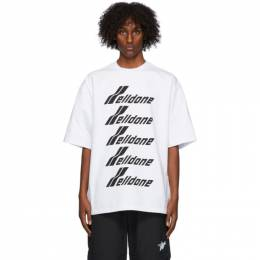 We11Done White Front Logo T-Shirt WD-TP6-20-074-U-WH