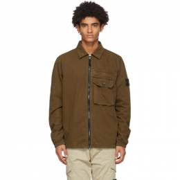 Stone Island Brown Chest Pocket Over Shirt 7315107WN