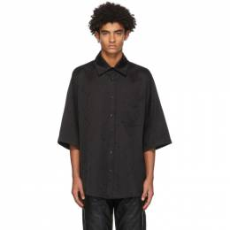 Black Moon Short Sleeve Shirt Marine Serre T076FW20M