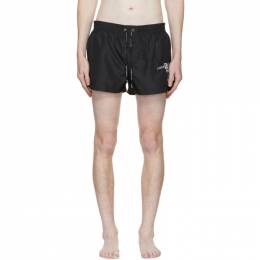 Dolce and Gabbana Black Embroidered Logo Swim Shorts M4A91T FUSFW