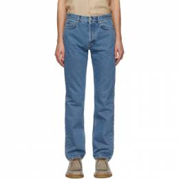 Blue Straight-Cut Jeans Sefr STRAIGHT CUT JEANS ST