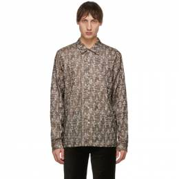 Beige and Brown Embroidered Sense Shirt Sefr SENSE SHIRT