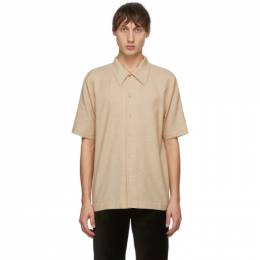 Beige and Brown Office Check Suneham Shirt Sefr SUNEHAM SHIRT