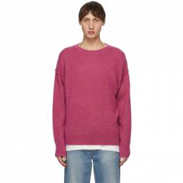Pink Cashmere Blend Sweater Tanaka ST-8