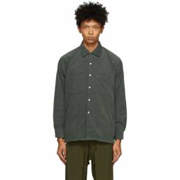 Grey Corduroy Dobby Shirt BEAMS PLUS 1111-6198-139