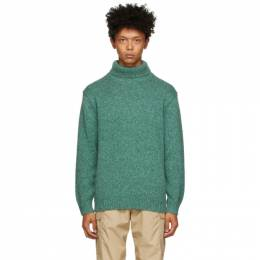 Green Wool and Cashmere Turtleneck BEAMS PLUS 1115-1345-156