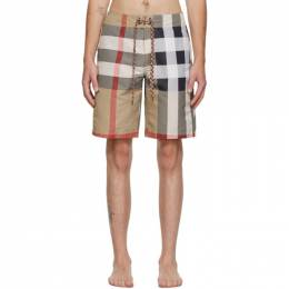 Burberry Beige Breton Swim Shorts 8022647
