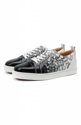 Кожаные кеды Louis Junior Christian Louboutin louis junior woman flat pat/patent degraloubi