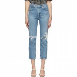 Agolde Blue Wilder Comfort Straight Jeans A156B-1255