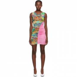 Versace Jeans Couture Pink Belts Print Dress ED2HZA410 ES0852