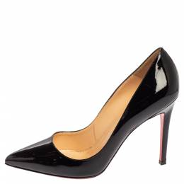 Christian Louboutin Black Patent Leather So Kate Pumps Size 37.5 339304