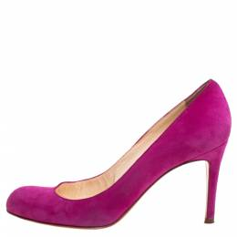 Christian Louboutin Fuchsia Suede Simple Pumps Size 38.5 340135