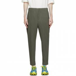 Homme Plisse Issey Miyake Khaki Monthly Colors June Trousers HP08JF103