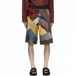 Multicolor Silk Tie Story Lesley Shorts By Walid 231061M