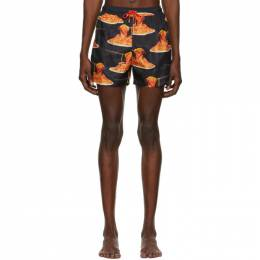 Black Spaghetti Swim Shorts Paul Smith 50th Anniversary M1A-239P-E40850-79