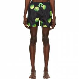 Black and Green Apple Swim Shorts Paul Smith 50th Anniversary M1A-239P-E40851-79