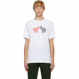 PS by Paul Smith White Zebra Halo and Devil T-Shirt M2R-011R-EP2392-01