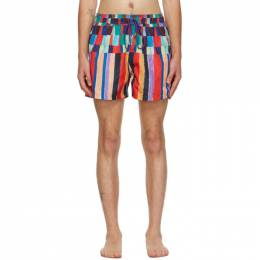 Paul Smith Multicolor Stripe Print Swim Shorts M1A-239P-E40897-92