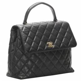Chanel Black Caviar Leather Kelly Tote Bag 333262