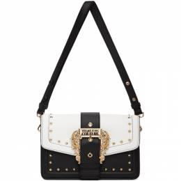 Versace Jeans Couture Black and White Couture 1 Buckle Bag EE1VZBBEBE71407E427