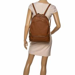 Michael Kors Brown Leather Medium Reazip Backpack 339436