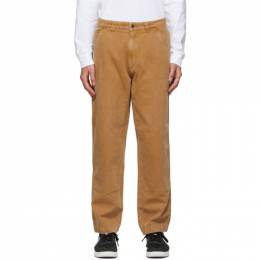 Stussy Tan Canvas Washed Work Pants 116457