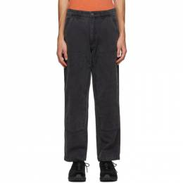 Stussy Grey Canvas Washed Work Pants 116457