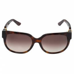 Cartier Tortoiseshell / Brown Gradient Trinity De Cartier Square Sunglasses 341090