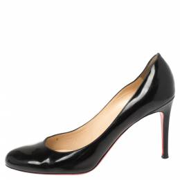 Christian Louboutin Black Patent Leather Simple Pumps Size 39 341332