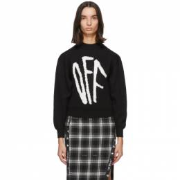 Off-White Black Graffiti Sweater OWHE017F20KNI0011001