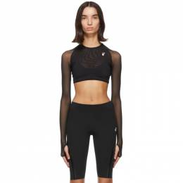Off-White Black Athleisure Crop Top OWVO021E20JER0011001