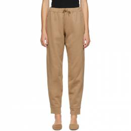 Toteme SSENSE Exclusive Beige Silk Lounge Pants 205-287-731